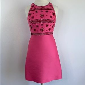 Kate Spade fit and flare pink dress, size 0